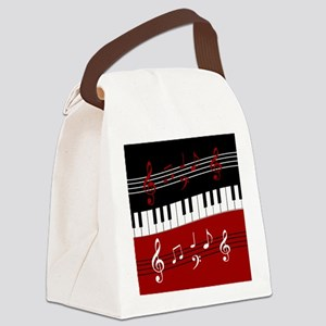 Stylish Piano keys and musical no Canvas Lunch Bag