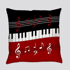 Stylish Piano keys and musical not Everyday Pillow
