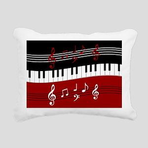 Stylish Piano keys and m Rectangular Canvas Pillow