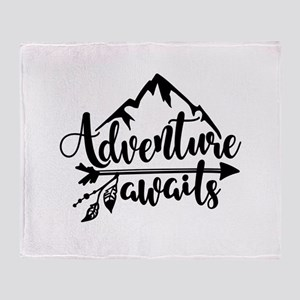 Adventure Awaits Throw Blanket