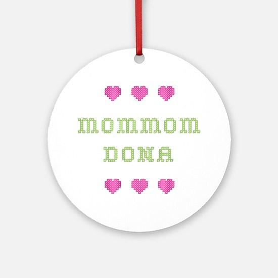 MomMom Dona Round Ornament