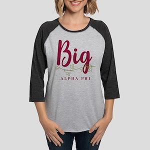 Alpha Phi Big Womens Baseball Tee