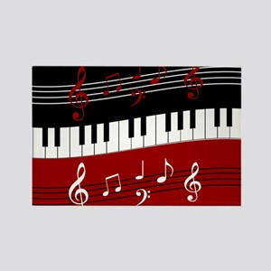 Stylish Piano keys and musical notes s Magnets