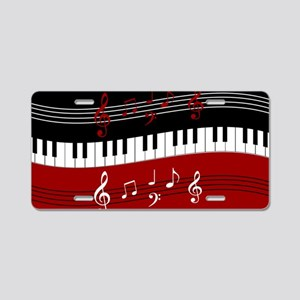 Stylish Piano keys and musi Aluminum License Plate