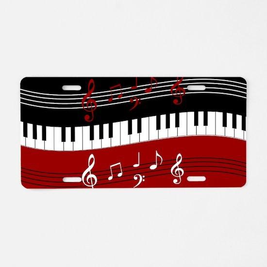 Stylish Piano keys and musi Aluminum License Plate