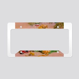 Christmas Puppies License Plate Holder