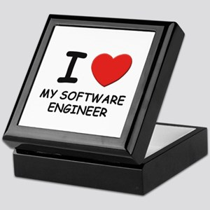 I love software engineers Keepsake Box