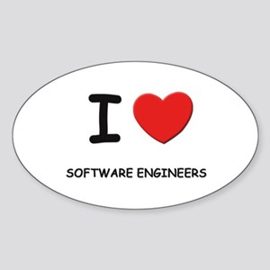 I love software engineers Oval Sticker