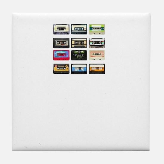 mix tape tee Tile Coaster