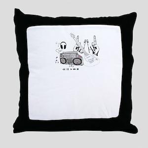 boombox kid Throw Pillow