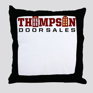 Thompson Door Sales Logo Throw Pillow