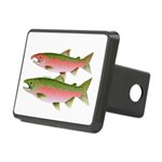 Pacific Coho Salmon fish couple Hitch Cover