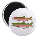 Pacific Coho Salmon fish couple Magnet