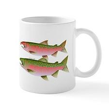 Pacific Coho Salmon fish couple Mug