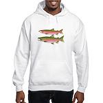 Pacific Coho Salmon fish couple Hoodie