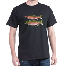 Pacific Coho Salmon fish couple T-Shirt