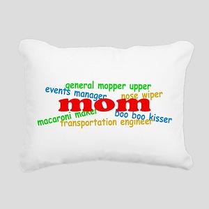 Supermom Rectangular Canvas Pillow