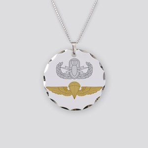 EOD Parachutist Necklace Circle Charm