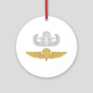 EOD Parachutist Ornament (Round)