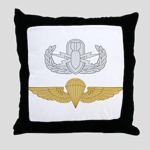 EOD Parachutist Throw Pillow