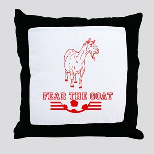 Fear The Goat Throw Pillow