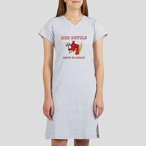 Red Devils Show No Mercy Women's Nightshirt