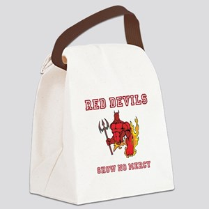Red Devils Show No Mercy Canvas Lunch Bag