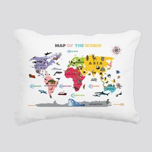 Interactive World Map For Kids- White and Bright R