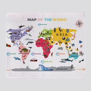 World Map For Kids- White and Bright T
