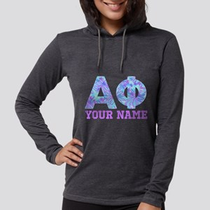 Alpha Phi Floral Womens Hooded Shirt