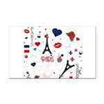 Paris pattern with Eiffel Tower Rectangle Car Magn