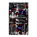 Paris pattern with Eiffel Tower 3'x5' Area Rug