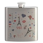 Paris pattern with Eiffel Tower Flask