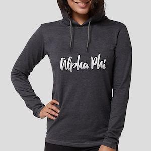 Alpha Phi Script Womens Hooded Shirt