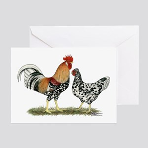 Icelandic Chickens Greeting Card