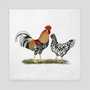 Icelandic Chickens Queen Duvet