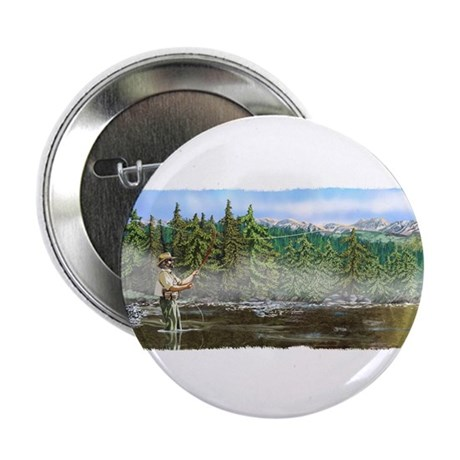 "Fly Fishing Hiatus 2.25"" Button"
