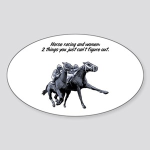 Horse racing and women. Rectangle Sticker