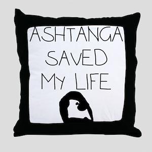 Ashtange Save My Life Throw Pillow