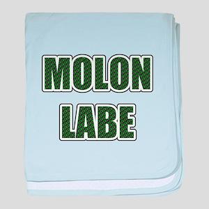 Molon Labe - Evergreen baby blanket