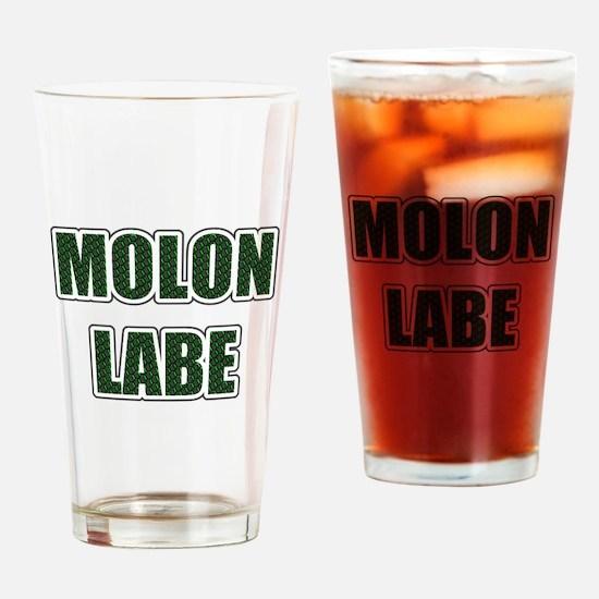 Molon Labe - Evergreen Drinking Glass
