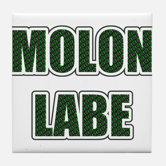 Molon Labe - Evergreen Tile Coaster