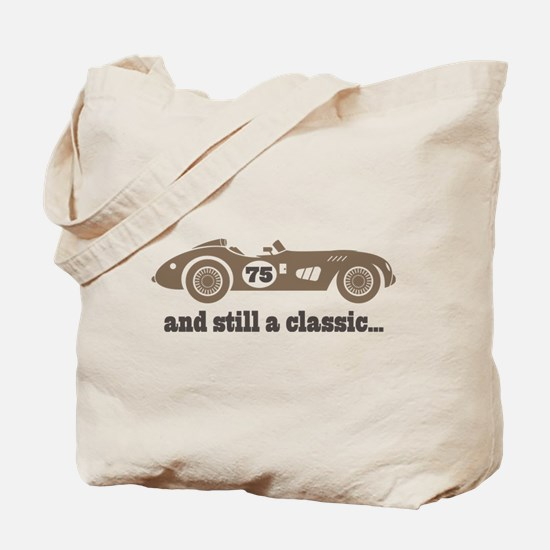 75th Birthday Classic Car Tote Bag