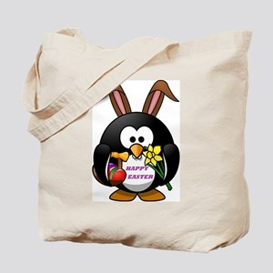 HAPPY EASTER PENGUIN BUNNY Tote Bag
