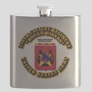 COA - 118th Cavalry Regiment Flask