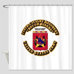 COA - 118th Cavalry Regiment Shower Curtain