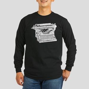 Old Fashioned Typewriter Long Sleeve Dark T-Shirt