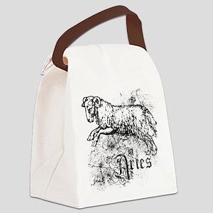 Worn Zodiac Aries Canvas Lunch Bag