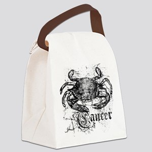 Worn Zodiac Cancer Canvas Lunch Bag