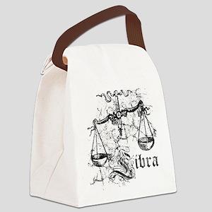 Worn Zodiac Libra Canvas Lunch Bag